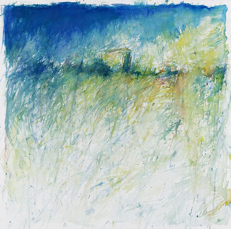 """Hannes Möller - Aquarell - """"Refugium A002 2006"""""""